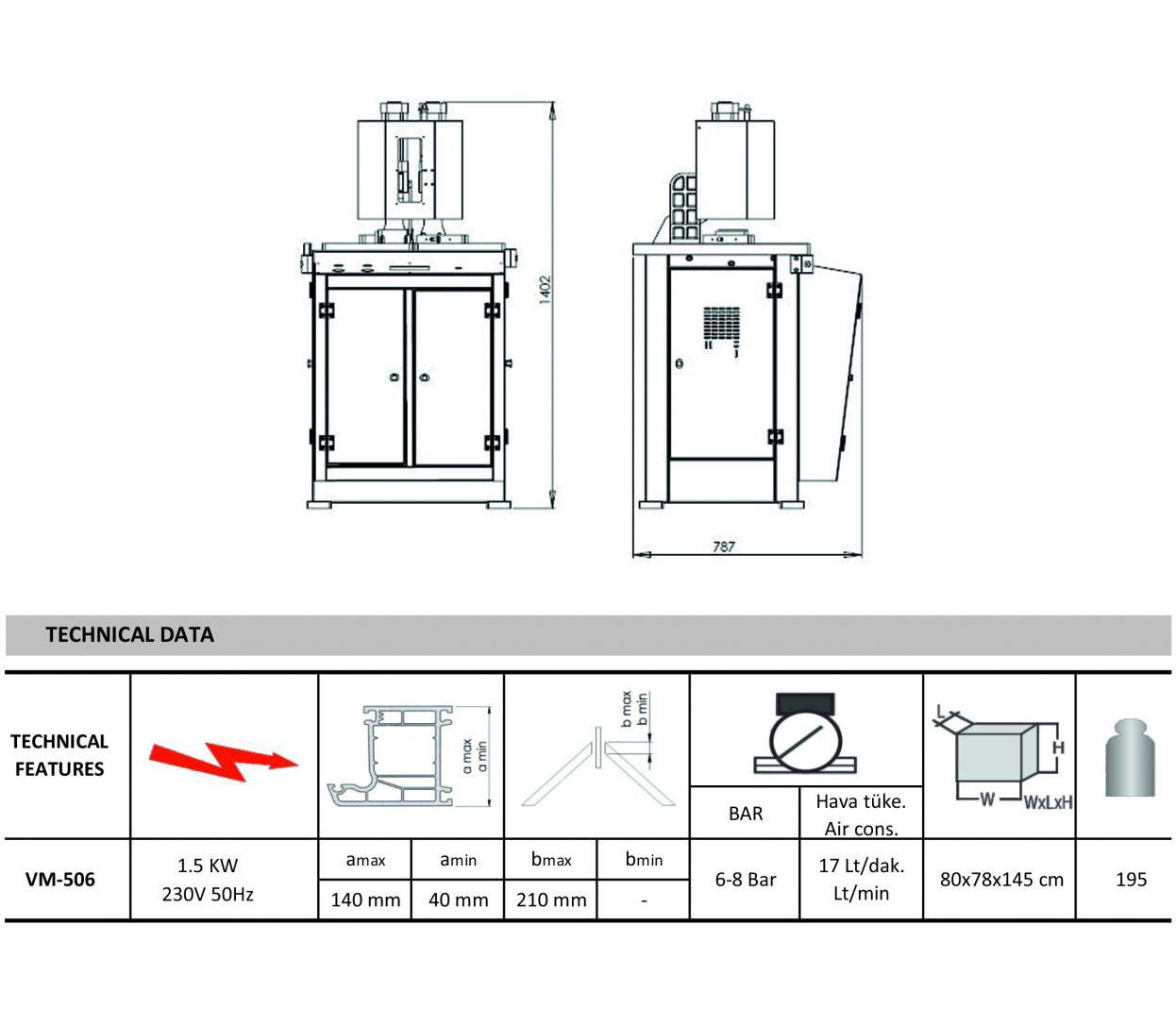 MSA-PRO Masina de sudat profile automata cu limitarea sudurii la 0.2 mm, seria PRO, 220V